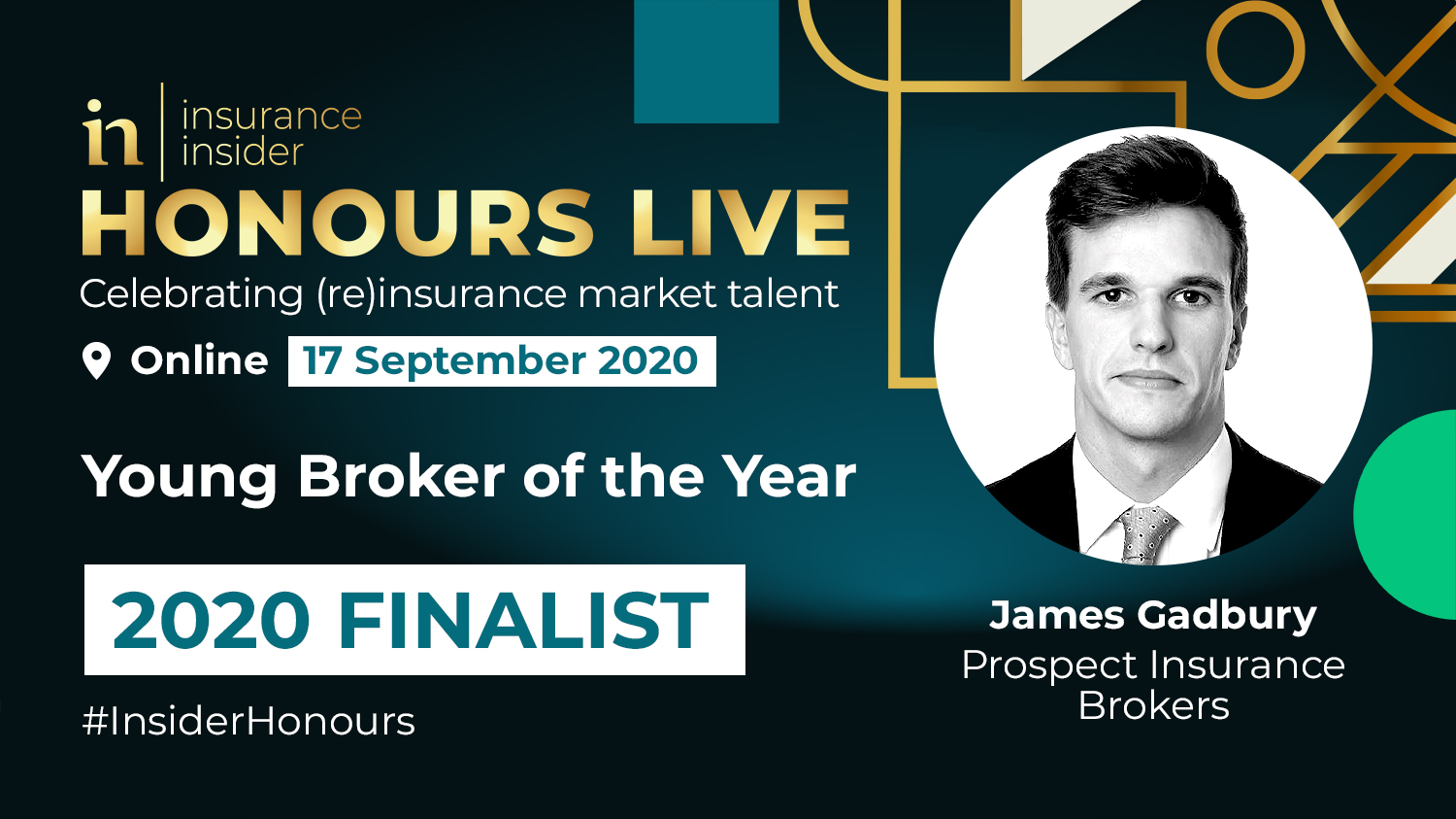 Honours LIVE Finalist Young Broker James Gadbury